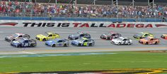 Talladega afternoon NASCAR Sprint Cup Series drivers Chase Elliott (24) and Austin Dillon (3) lead the pack at the start the GEICO 500 at Talladega Superspeedway on Sunday in Talladega, Ala.