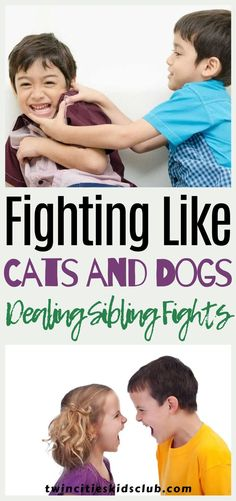 Twin Cities Kids Club Blogs: Fighting Like Cats and Dogs: Dealing With Sibling Fights - We tend to forget that we were kids once, and so should know when our kids try to hide stuff. We know perfectly well that we used to try and blame any disasters on the weakest link sibling. And yet, as parents, we seem to have forgotten this diversionary tactic or don't notice when our kids use it. | Kids | Kids Fight | Sibling Fights | Parenting Tips | Parenting Activities For 2 Year Olds, Indoor Activities, Infant Activities, Educational Activities, Kids And Parenting, Parenting Hacks, Sibling Fighting, Learning Through Play, Raising Kids