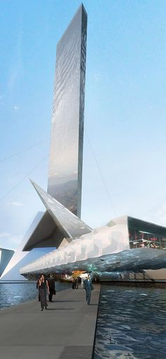 Taiwan Tower Conceptual Design Competition, Taichung, China designed by OFF Architecture :: height 350m