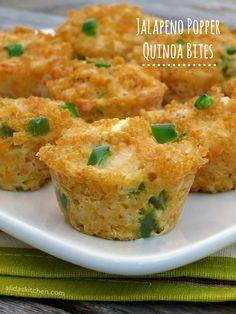 Jalapeno Popper Quinoa Bites | alidaskitchen.com #recipes #WeekdaySupper #ChooseDreams