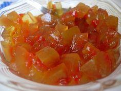 Dulceata aromata din coji de lubenita Thing 1, Fruit Salad, Caramel, Banana, Sticky Toffee, Fruit Salads, Candy, Fudge