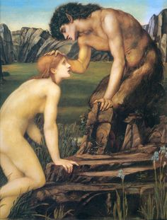Pan and Psyche, c.1872-1874  Burne-Jones,Sir Edward Coley  Painting Reproductions