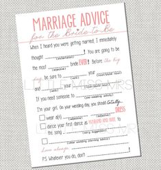How fun are those check boxes? Def doing this for every Bridal Shower I plan from now on.