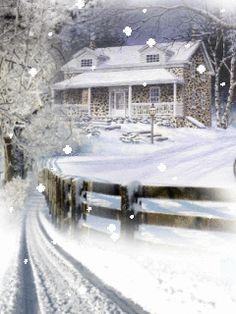 Картинки зима новый год анимашки