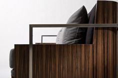 Custom Made Macassar Ebony Couch