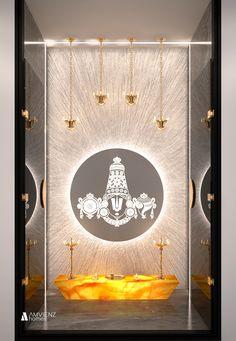 Small House Interior Design, Home Room Design, Office Interior Design, Modern House Design, Living Room Designs, Temple Design For Home, Mandir Design, Pooja Room Door Design, Puja Room