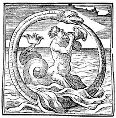 This ouroboros takes the cake! Feat. Triton (who is for some reason representing lye), seawater, and sand - all elements crucial to alchemical process.