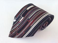 Mark Alexander Neck Tie Black Blue Red Gray Gold Geometric 100% Italian Silk #MarkAlexander #NeckTie