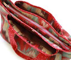 Big zippered tote pattern big bag pattern multi pocket bag