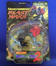 Transformers Beast Wars JAWBREAKER Transmetals 2 Heroic Maximal MOSC Hyena #Hasbro