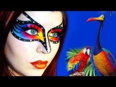 Pixar UP! Kevin Inspired Mask Make-up Tutorial