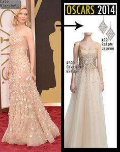 Cate Blanchett #oscar2014 dress recreated for less