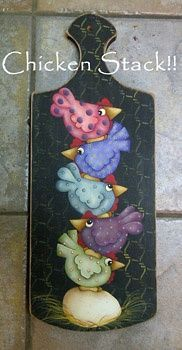 tole painted rooster   Tole painting