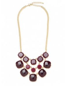 Burgundy is the hottest color for #fall - and this statement necklace is an easy, inexpensive way to work it into your wardrobe.