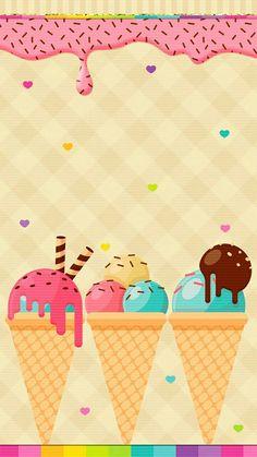 Ice Cream Wallpaper Iphone, Go Wallpaper, Summer Wallpaper, Mobile Wallpaper, Wallpaper Backgrounds, Ice Cream Background, Cream Walls, Ice Cream Party, Candyland