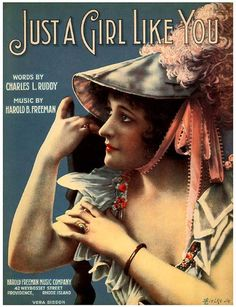 Vintage Song Poster - Just A Girl Like You
