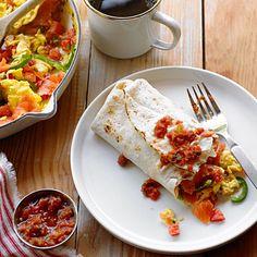 smoked salmon breakfast burrito - bonus, you can make while camping. Yum!