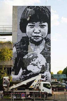 Jef Aérosol pour l'Octobre Rose au CHU de Bordeaux