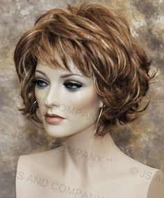 Classy and chic Everyday wig Multiple layers Auburn Blonde mix lo RS29 #FullWig