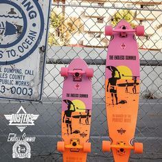 """Dusters Endless Summer Yellow/Orange/Pink 31"""" Cruiser Complete"""