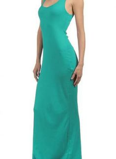 Simple Sexy Teal Tank Style Maxi Dress,  Dress, maxi dress  simple, Chic