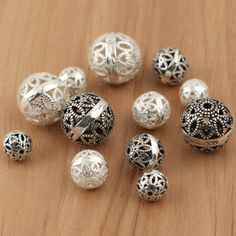 Only US$4.86 , shop 925 5pcs Sterling Silver Round Loose Beads Hollow DIY Jewelry Accessories Findings at Banggood.com. Buy fashion Findings & Components online.