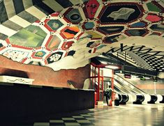 Stockholm metro. Photo by Angel Trinidad.