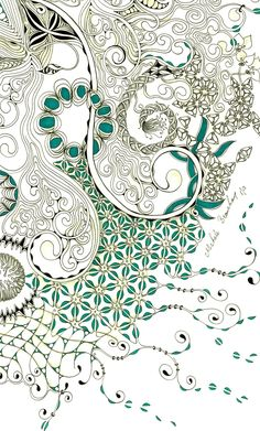 This large Zentangle Inspired Art started with auraknot  as a string, from there I went freestyle out and down the page.  Have a super weeke...