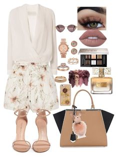 """Untitled #211"" by eloismbemba on Polyvore featuring Michelle Mason, Haute Hippie, Stuart Weitzman, Fendi, Givenchy, FOSSIL, Ron Hami, Vitaly, David Yurman and Kendall + Kylie"