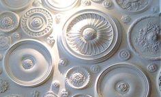 Ceiling Medallions as Decor.