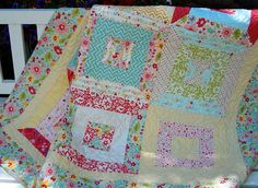 Baby Girl Quilt with Riley Blakes' fabric The by CottageChicQuilts, $109.00
