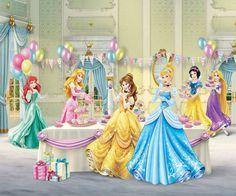 17.00$  Buy here - http://alip51.shopchina.info/go.php?t=32810688908 - Custom vinyl print cartoon girls princess room photography backdrops for birthday party photo studio portrait backgrounds PR-001  #buyonlinewebsite