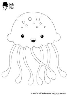Animal Coloring Smiling Jellyfish Coloring Pages Smiling