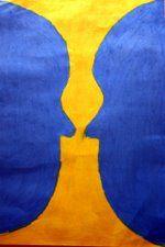 Symmetria - kasvot / maljakkko. Flag, Vase, Science, Vases, Flags, Jars