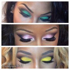 Navy-Smokey Eye Make Up Tutorial for Black Women with Dark Skin ...