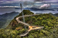 Amazing Sky Bridge in Langkawi, Malaysia. The last scene of Indian movie Don2: The Chase Begins Again was filmed here.  More Pic: http://blog.99mustsee.com/amazing-sky-bridge-in-langkawi-malaysia/#ixzz2StAFXlvz Like Us: http://facebook.com/99mustsee