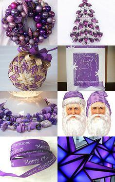 Purple Christmas --Pinned with TreasuryPin.com