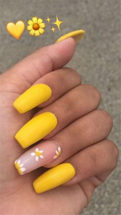 Trendy Yellow Nail Art Designs To Make You Stunning In Summer;Acrylic Or Gel Nails; French Or Coffin Nails; Matte Or Glitter Nails; Wedding Acrylic Nails, Summer Acrylic Nails, Best Acrylic Nails, Acrylic Nails Yellow, Wedding Nails, Simple Acrylic Nails, Mauve Wedding, Acrylic Nail Art, Cute Spring Nails