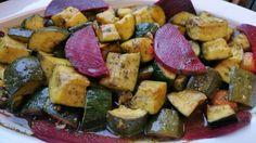 Curry Zucchini mit Nussmischung