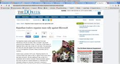 Rajasthan traders organize mass rally against Microsoft - See more at: http://www.dqweek.com/dq-week/news/189357/more-traders-rajasthan-held-mass-rally-microsoft#sthash.SpxlhPHS.dpuf  http://www.dqweek.com/dq-week/news/189357/more-traders-rajasthan-held-mass-rally-microsoft