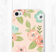 Gift for Mom Floral iPhone SE Case iPhone 6 Floral by fieldtrip