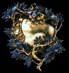 Rene Lalique Art Nouveau jewellery - Kaleidoscope effect Bijoux Art Nouveau, Art Nouveau Jewelry, Jewelry Art, Vintage Jewelry, Fine Jewelry, Jewelry Design, Jewlery, Gold Jewelry, Jewellery Box
