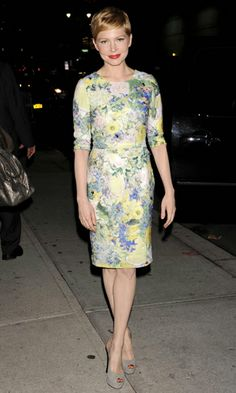 Michelle Williams wearing Erdem at David Letterman