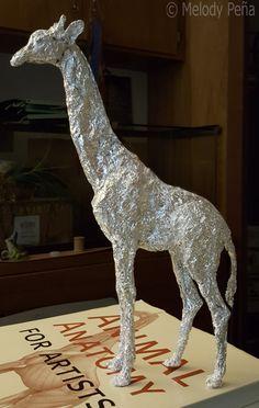 Aluminum Foil Giraffe by Reptangle