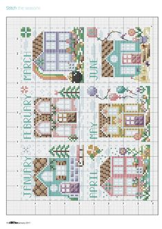 Stitch The Seasons From Cross Stitch Collection N°270 January 2017 3 of 5