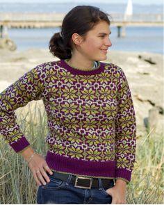 The Vintage Pattern Files: Free 1940's Style Knitting Pattern - Fair Isle Jumper
