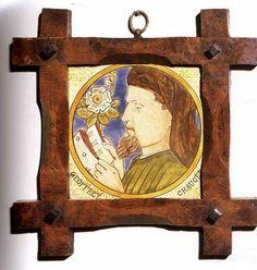 William Morris - Dante Gabriel Rossetti as Chaucer reading 1864
