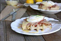 Eggs Benedict Over Savory Waffles #glutenfree #paleo #againstallgrain