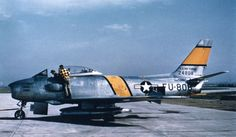 F-86 Sabre jets, manufactured by North American Aviation Corporation. In Korea