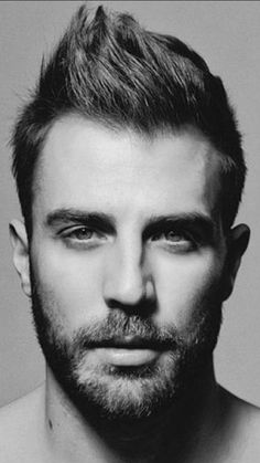 Moustaches, Handsome Bearded Men, Great Beards, Man Images, Black And White Man, Sexy Men, Hot Men, Hair And Beard Styles, Male Face